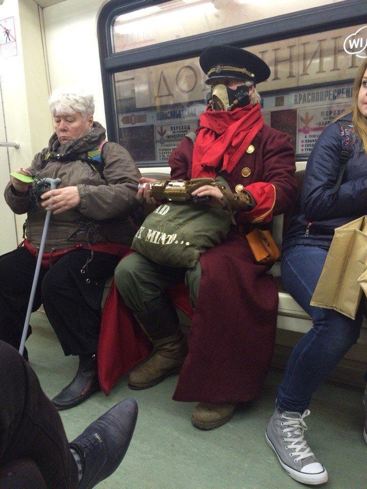 Московское метро смешные картинки, открытка юбилей