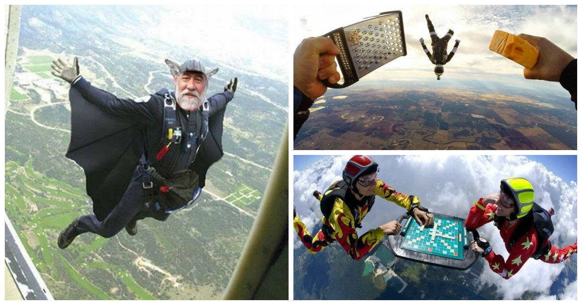 Картинки парашютистов прикол