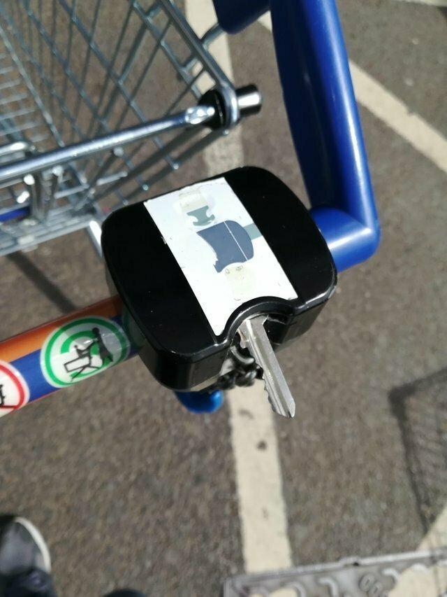 """""""Когда нет монеты для тележки, я просто использую свой ключ."""""""