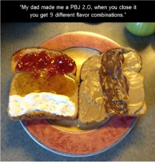 2 кусочка хлеба - 6 разных вкусов