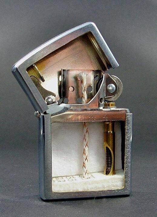Зажигалка в разрезе