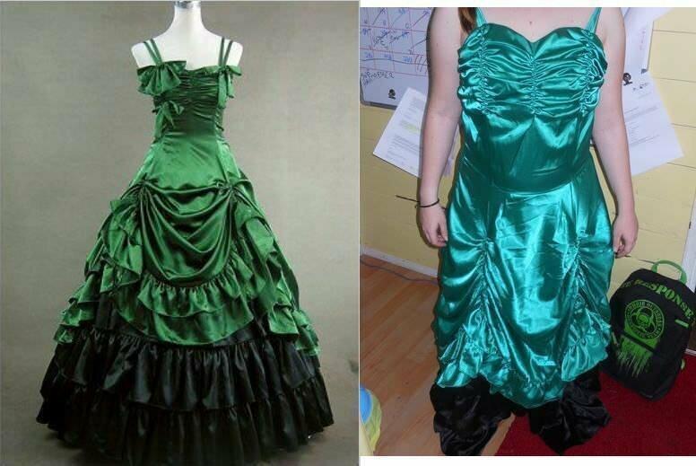 А вот эти девушки, рискнули заказать платья онлайн. Как видно, зря...