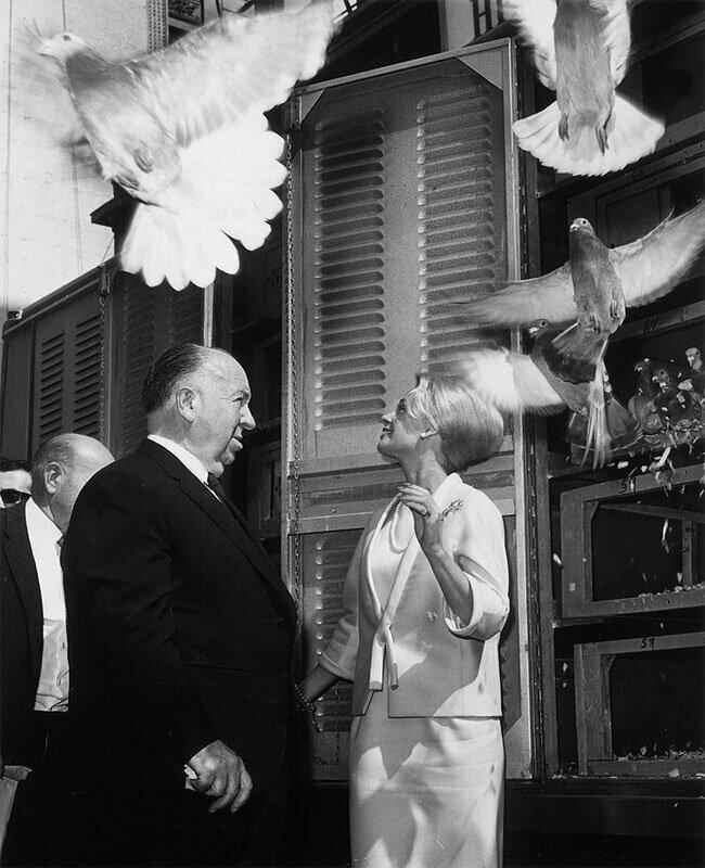 """Птицы"" (1961), Типпи Хедрен с Хичкоком"