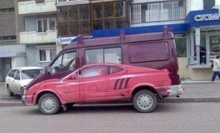 Сколько машин вы видите на фото? животные, иллюзия, люди, обман зрения, сломать мозг, удивление