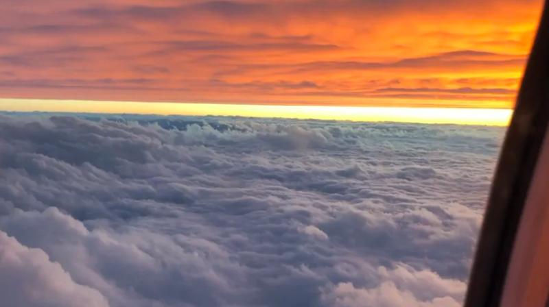 Кадр из самолета