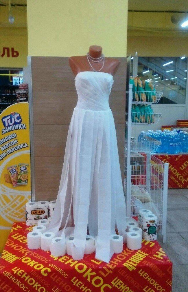 Бюджетный вариант свадебного платья