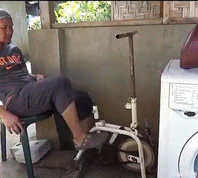 Стиральная машинка, которая не требует электричества