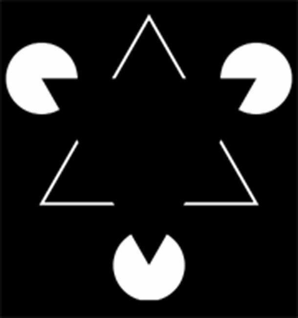 Треугольник Канижа весь мир обман, иные миры, необычно, неожиданно, оптические иллюзии, поразительно, странно. удивительно, удивительное рядом