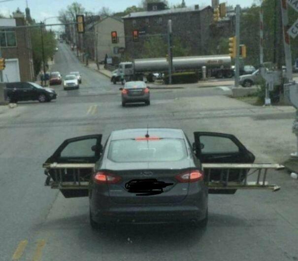 А сейчас со всем этим мы попробуем взлететь... автомобильное, водители, водители ада, дорожное, на дороге, необычные автомобили, странные автомобили, юмор