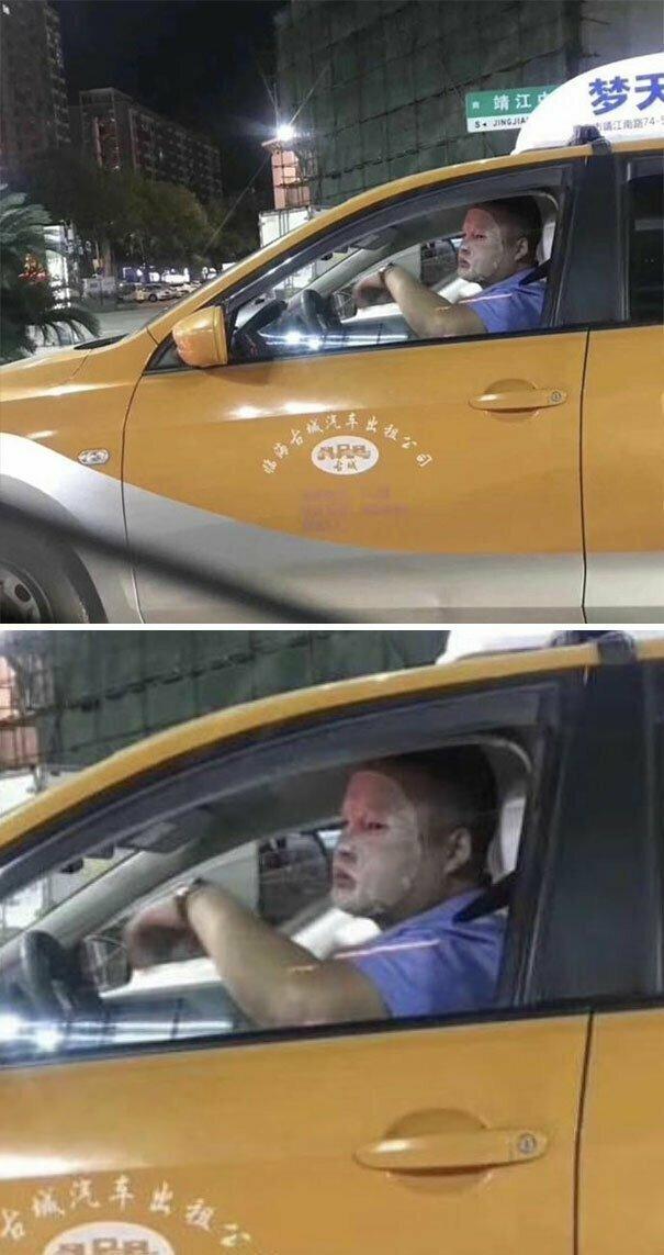 Всегда заботься о коже лица автомобильное, водители, водители ада, дорожное, на дороге, необычные автомобили, странные автомобили, юмор