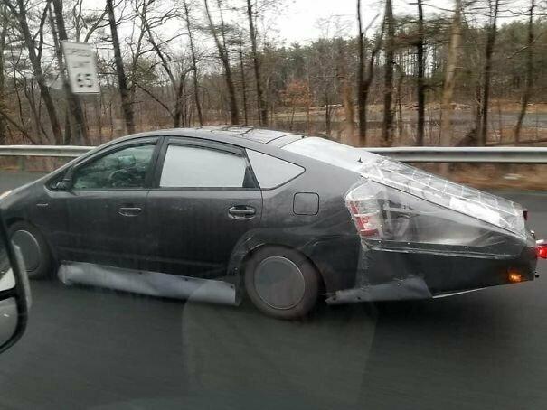 Кто решил увеличить аэродинамику автомобильное, водители, водители ада, дорожное, на дороге, необычные автомобили, странные автомобили, юмор