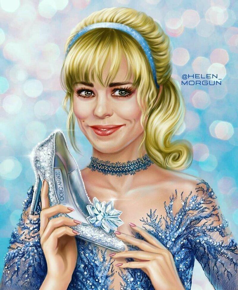 Рэйчел Макадамс - Золушка девочковое, диснеевские принцессы, звездные сказки, звезды, искусство, рисование, творчество, художник