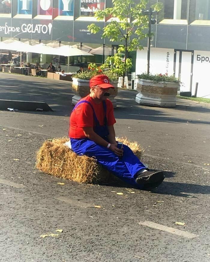 Вместо эпилога уставший Марио. Теперь вы точно видели всё запарились, отдых, подборка, прикол, смекалка, усталость