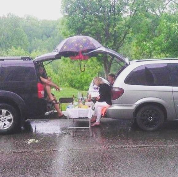 И ничто не испортит отдых на природе, даже дождь