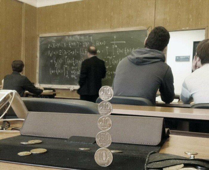 Финансовая пирамидка лекции, на паре, смешно, студенты, универ, учеба, фото, школа, школьный юмор, юмор