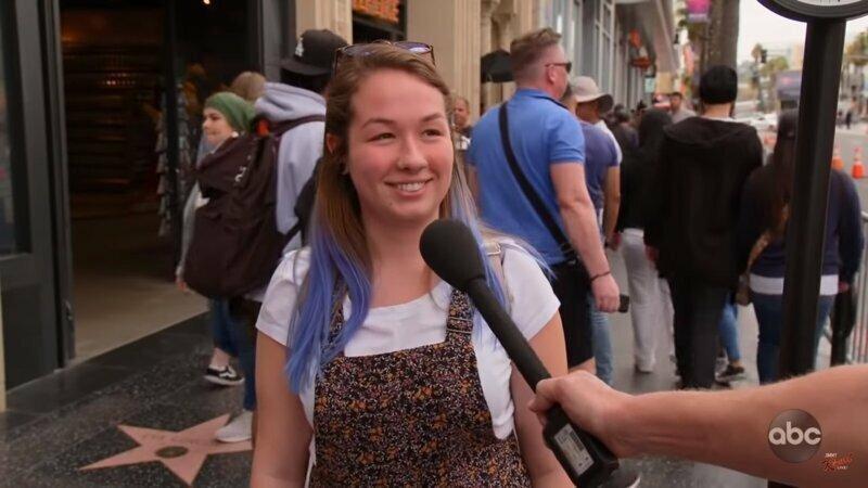 Первая героиня сюжета сразу же отказалась отвечать на вопрос репортёра