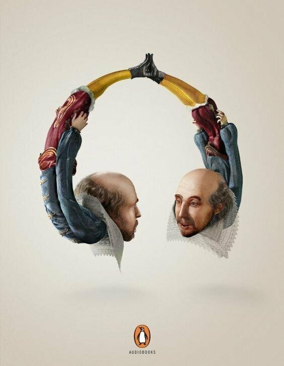 Аудиокниги гениально. реклама, креатив, неповторимо, фабрика идей, фантазия