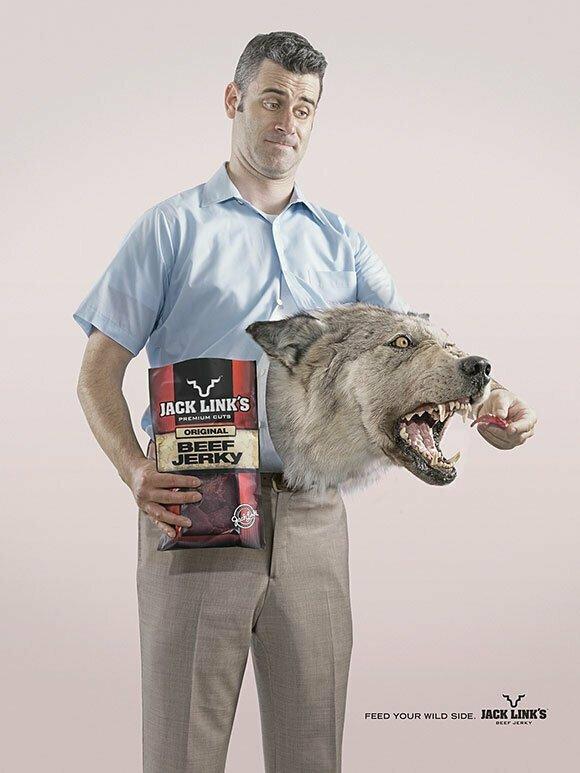 Покорми свой зверский голод гениально. реклама, креатив, неповторимо, фабрика идей, фантазия