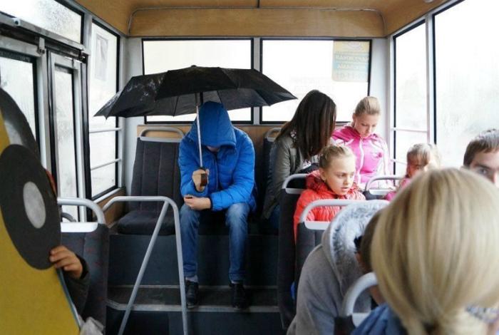 Человек-зонт