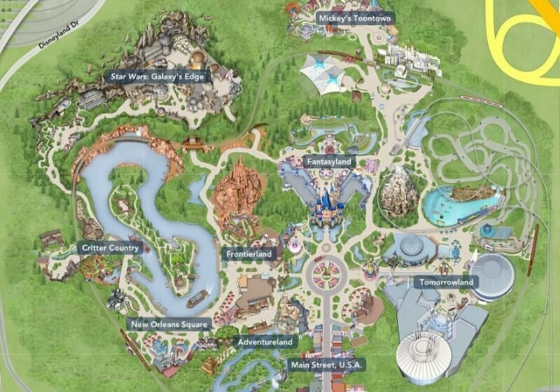 Тематическая зона Star Wars на карте Диснейленда в Калифорнии star wars, аттракцион, в мире, диснейленд, звездные войны, новости, парк аттракционов, развлечения