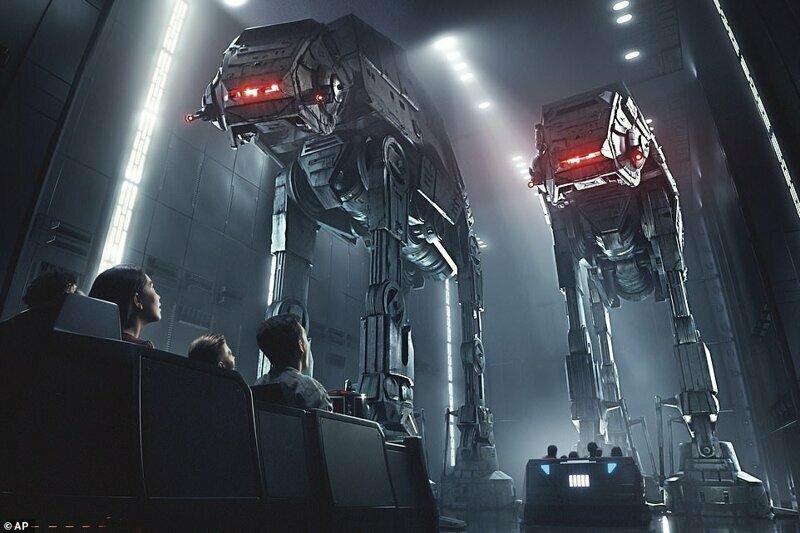Еще один аттракцион, Star Wars: Rise of the Resistance (на фото), откроется позже в этом году