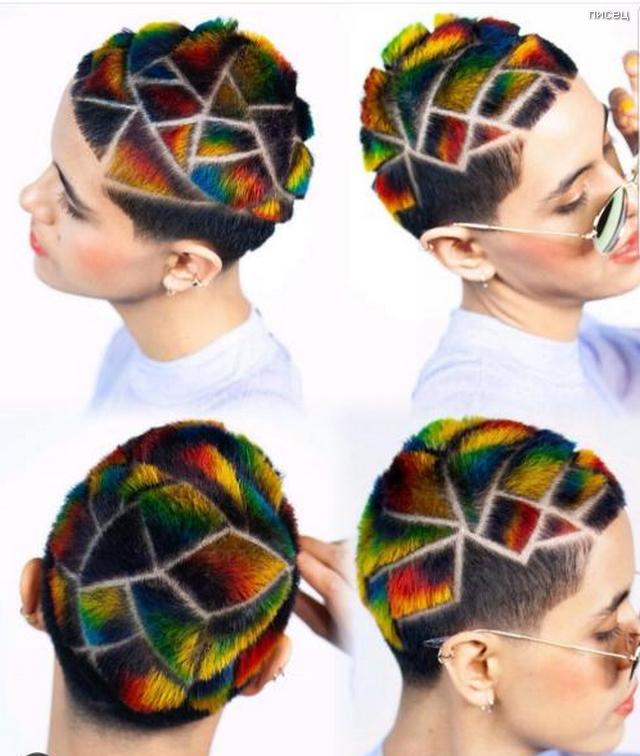 Мозаично волосы, креатив, прически, сделайте мне красиво, смешно, юмор