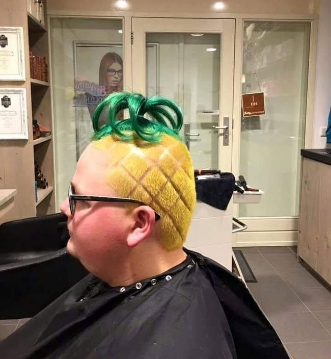 Ананасовоголовый волосы, креатив, прически, сделайте мне красиво, смешно, юмор