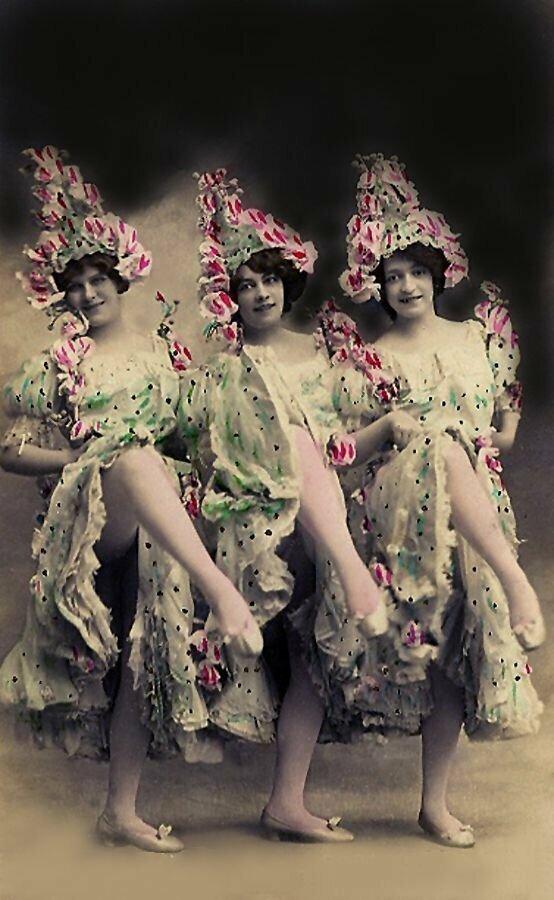 Первые танцовщицы канкана: какими они были варьете, девушки, интересное, история, кабаре, канкан, старые фото, фото