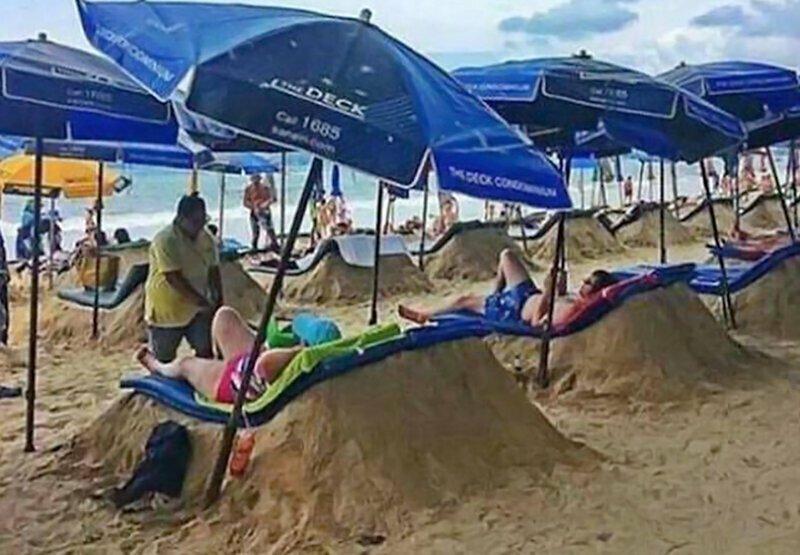 Несколько пляжных уловок, которые помогут сохранить ваши вещи и хорошее настроение lifehack, лайфхаки, лето, пляж, полезное, прикол, хитрости