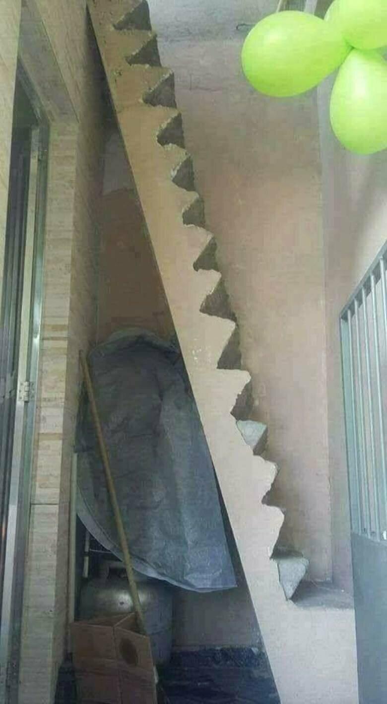 Для экстремалов лестницы, маразмы, ну кто так строит, рукожопы, стройка, фейл, хогвартс, юмор