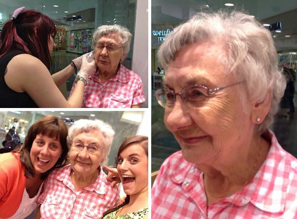 Впервые проколоть уши - сделано! возраст, новые свершения, позитив, смех, старость. бабульки, юмор