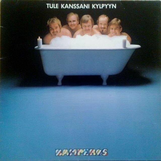 Bamperos – Tule Kanssani Kylpyyn (1980) музыкальные обложки, обложки, обложки альбомов, обложки виниловых пластинок, ретро, старые, старые пластинки, странное