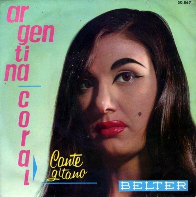 Argentina Coral – Cante gitano (1961) музыкальные обложки, обложки, обложки альбомов, обложки виниловых пластинок, ретро, старые, старые пластинки, странное