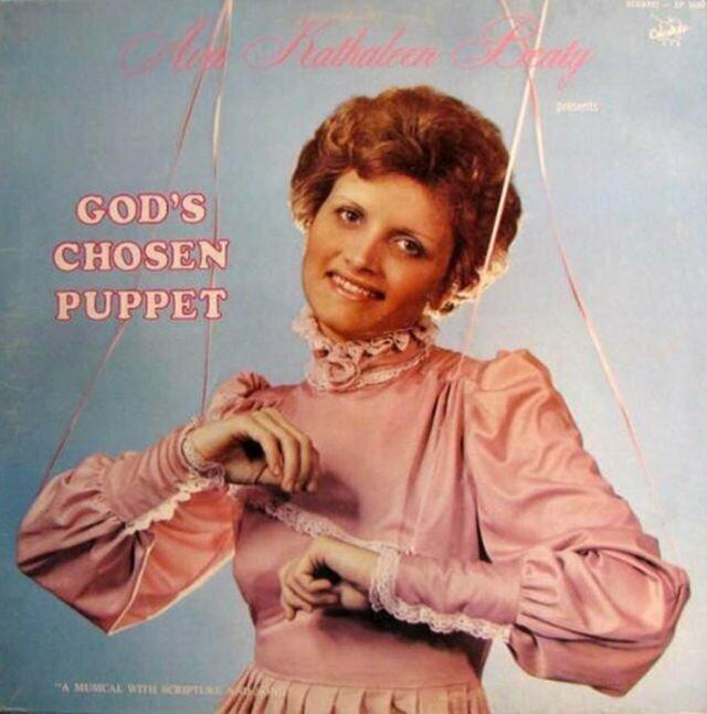 Ava Kathaleen Beaty – God's Chosen Puppet музыкальные обложки, обложки, обложки альбомов, обложки виниловых пластинок, ретро, старые, старые пластинки, странное