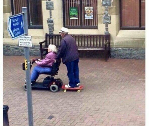 Бесконечный оптимизм бабушки, дедушки, пенсионеры, пенсия, прикол, старики, старость