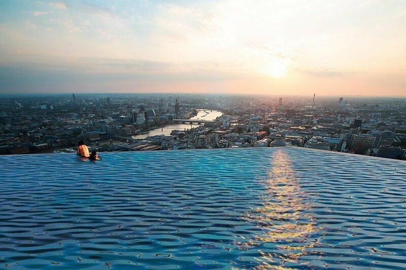 В Лондоне может появиться оригинальный бассейн украшающий крышу небоскреба