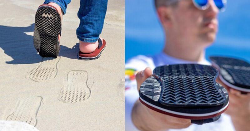 Обувь с подошвой, которая оставляет обратные следы. Идёте вперёд, а следы показывают, что назад. Ну ведь круто же!