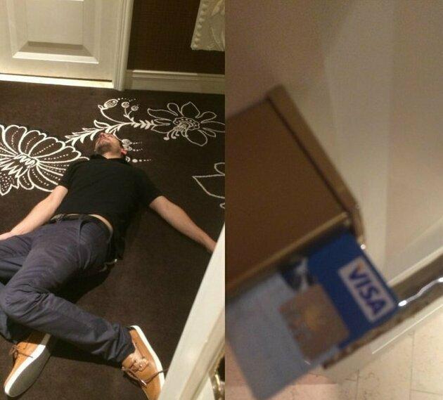 """""""Я увидел этого парня в отеле Лас-Вегаса. Он почти попал в номер, но ошибся с картой"""""""