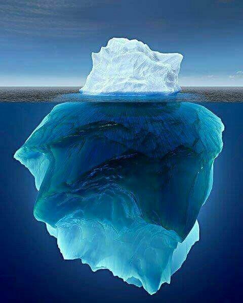 В прибрежных водах Антарктиды постоянно плавает около 100 000 айсбергов. По содержанию пресной воды они превосходят все реки и озера вместе взятые айсберг, интересное, лед, под водой, природа