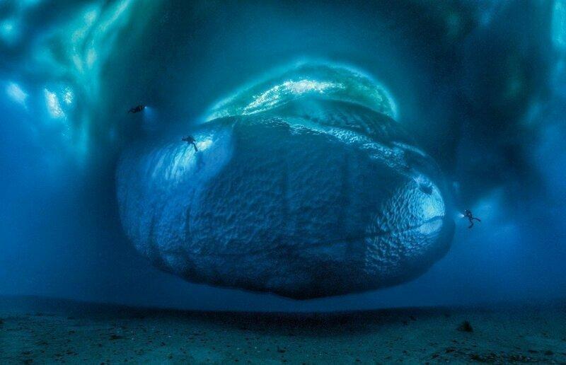 Айсберги, скрывающиеся от людских глаз айсберг, интересное, лед, под водой, природа