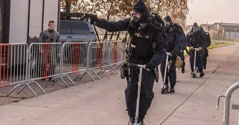Голландское контртеррористическое подразделение подборка, прикол, самокат, самокаты, хитрости, юмор