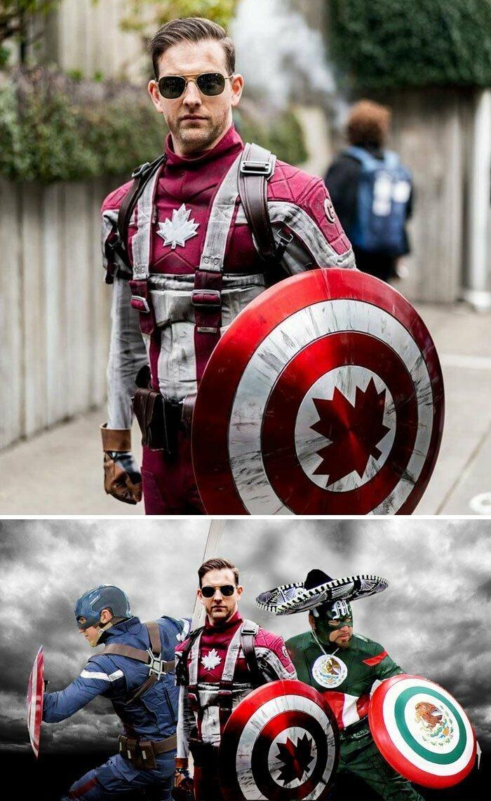 """Косплей """"Капитан Канада"""""""