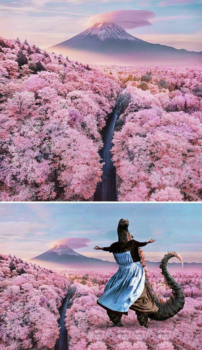 Фудзи, Япония. Розовая долина