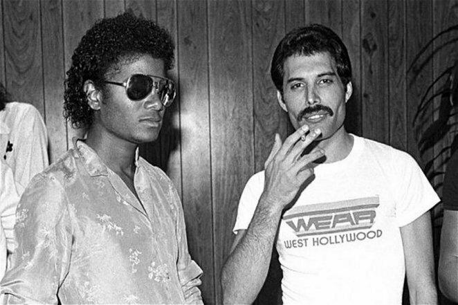 Фредди и Майкл: к сожалению, их знакомство не привело к записи совместного сингла 20 век, звезды, знаменитости, знаменитости в молодости, известные, известные люди, известные люди в молодости, старые фотографии
