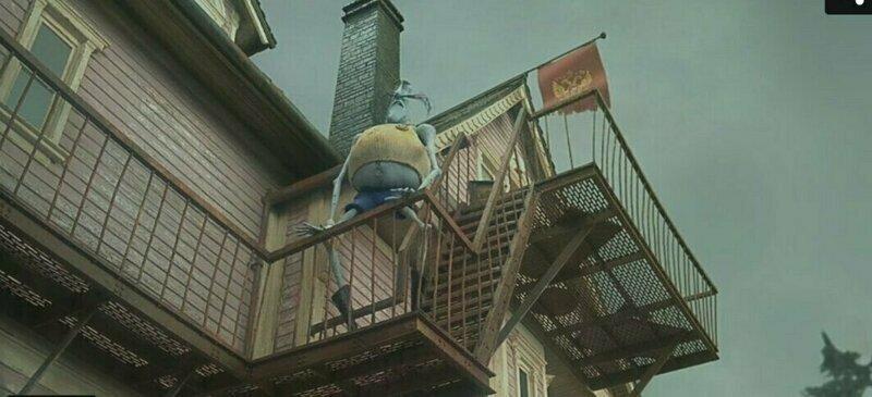 """В фильме """"Коралина в стране кошмаров"""" в одном эпизоде был герб России забавно, интересное, кино, киноляпы, пасхалки, факт"""