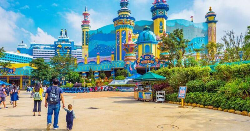 1. Chimelong Ocean Kingdom, Хэнцинь, Китай - 10,8 млн посетителей за год