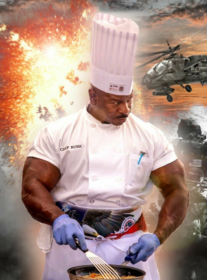 Габариты шеф-повара Белого дома помогли ему стать героем фотожаб