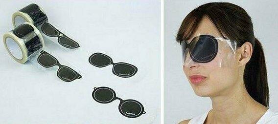 Целая лента солнцезащитных очков