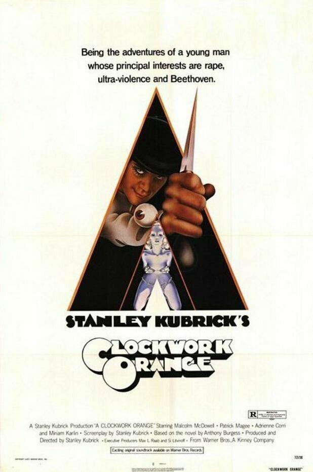 «Заводной апельсин» (1971) интересное, постеры, цензура