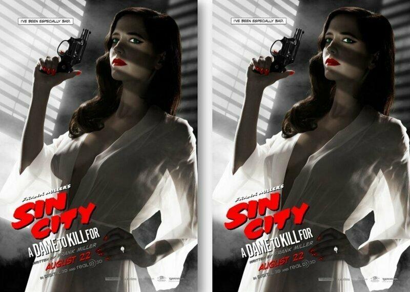 «Город грехов 2: Женщина, ради которой стоит убивать» (2014 год) интересное, постеры, цензура